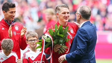 Bayern Munich ăn mừng hoành tráng trên sân nhà