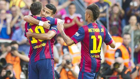 Barca: Giờ là mục tiêu 'ăn ba'