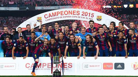 Messi lập cú đúp, Barca lần thứ 27 giành cúp Nhà vua