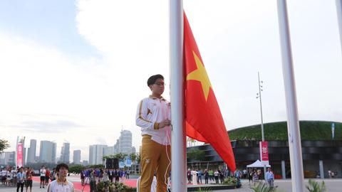 SEA Games 28: Lễ thượng cờ trang nghiêm của đoàn Thể thao Việt Nam