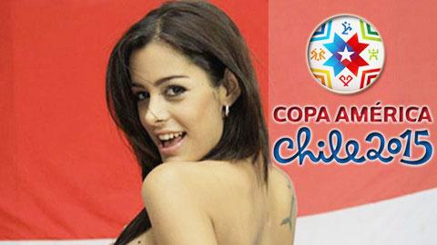 Sau giờ bóng lăn 3/6: Copa America 2015 mất vui vì Larissa Riquelme