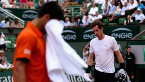 Trận bán kết Djokovic-Murray tạm dừng vì bão, Wawrinka vào chung kết Roland Garros