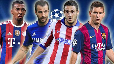 ĐHTB Champions League 2014/15: Barca áp đảo, vắng bóng Juve