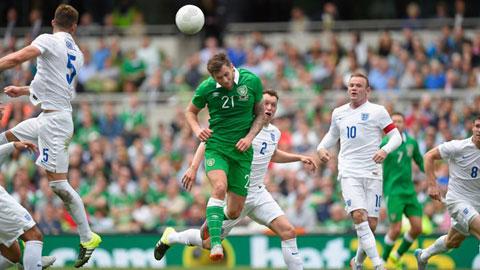 CH Ireland 0-0 Anh: Tiệc nhạt của Roy Hodgson
