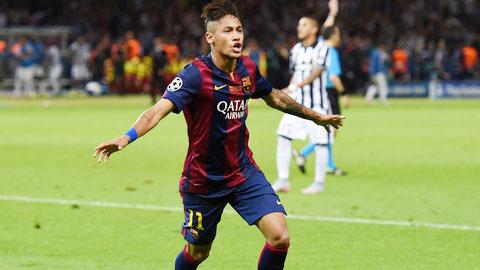 Neymar chia sẻ danh hiệu Vua phá lưới Champions League với Messi và Ronaldo
