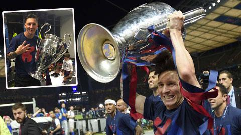 Sau giờ bóng lăn 7/6: Messi mải ôm cúp, quên mất đại công tử