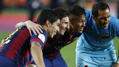 4 cầu thủ Barca không được tính là vô địch Champions League 2014/15
