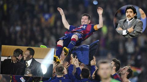 CĐV bầu Messi là cầu thủ xuất sắc nhất qua mọi thời đại, áp đảo Pele và Maradona