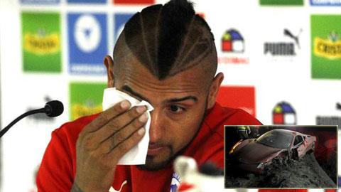 Vidal khóc hối hận sau quyết định khoan hồng của ĐT Chile