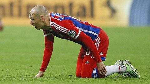 Robben sốc nặng vì chấn thương