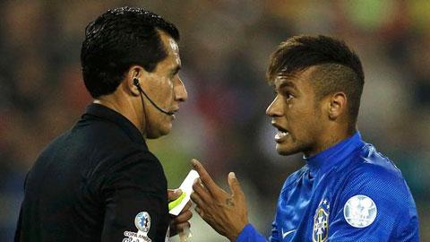 Neymar công kích trọng tài sau khi nhận thẻ đỏ