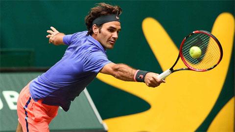 Federer tiến gần danh hiệu thứ 8 tại Halle