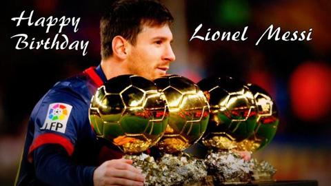 Cộng đồng mạng hồ hởi chúc mừng sinh nhật Messi 28 tuổi