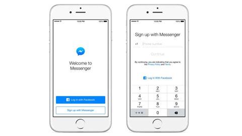 Facebook Messenger không cần tài khoản facebook