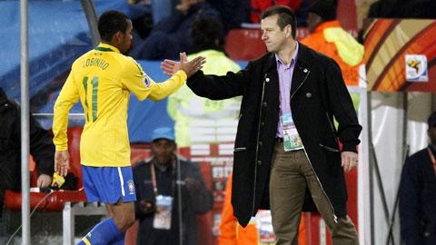 Tứ kết Copa America Brazil vs Paraguay: Dunga cùng Robinho mơ về quá khứ