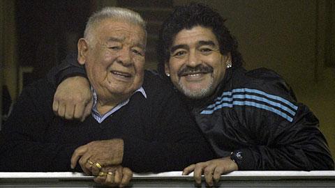 Cha đẻ Maradona qua đời ở tuổi 87