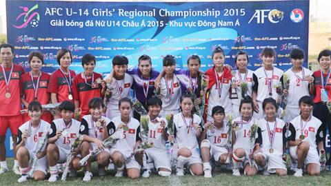 U14 châu Á 2015 - Khu vực ĐNÁ: Việt Nam xuất sắc đăng quang