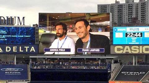 Pirlo, Lampard và Bale rủ nhau tới dự khán trận derby New York