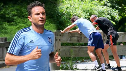 Chùm ảnh về buổi tập đầu của Lampard ở New York City