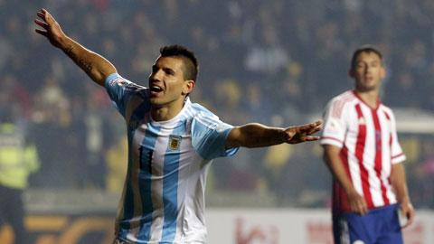 Copa America: Aguero hết ngã là... bay