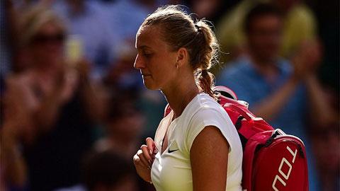 Nhà ĐKVĐ Petra Kvitova bị loại ngay ở vòng 3 Wimbledon