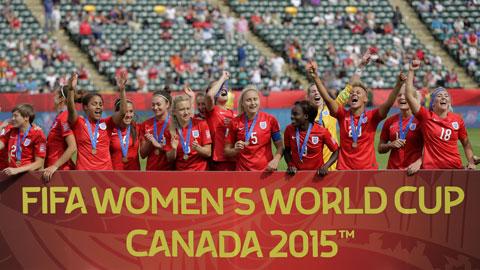 Anh giành huy chương đồng World Cup 2015: ĐT nữ Anh lần đầu có huy chương