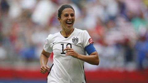 5 cầu thủ hay nhất giải World Cup nữ 2015