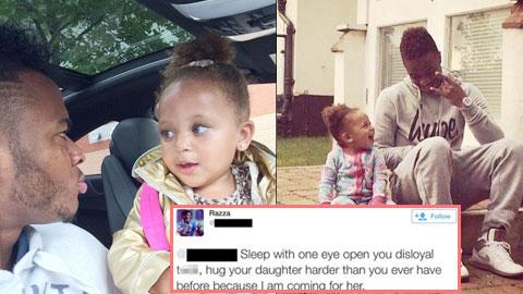Fan Liverpool dọa bắt cóc con gái Sterling