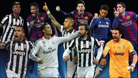 Barca & Juve áp đảo danh sách cầu thủ hay nhất châu Âu 2014/15