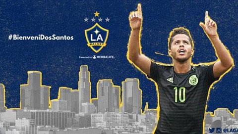 Giovani dos Santos theo chân Steven Gerrard và Robbie Keane tới LA Galaxy