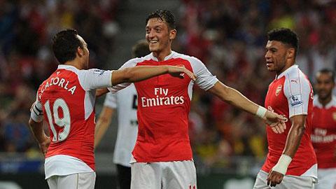 Đánh bại Everton 3-1, Arsenal vô địch Asia Trophy Cup 2015