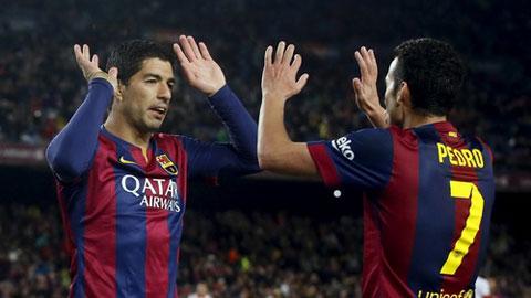 Suarez không muốn Pedro rời Barca