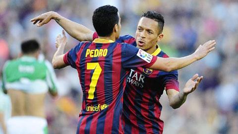 Barca sắp chia tay Pedro và Adriano: Khoảng trống cascadeur