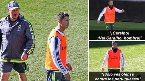 Ronaldo liên tục chửi đổng trong buổi tập