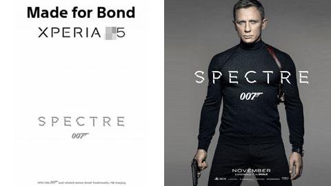 Xperia Z5 sẽ xuất hiện trong Spectre, phim mới về James Bond