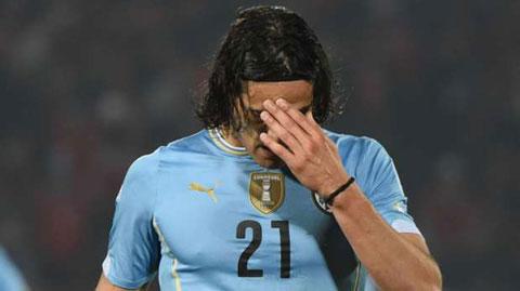 Cavani bị treo giò 2 trận vì thẻ đỏ ở Copa America