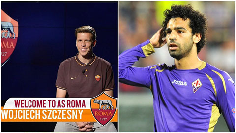 Salah và Szczesny được chào đón nồng nhiệt ở Roma