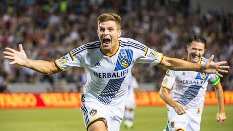 Giải bóng đá nhà nghề Mỹ MLS 2015: Gerrard & Keane giúp đội nhà thắng sân khách