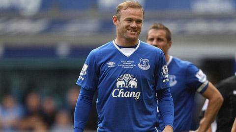 Rooney tịt ngòi trong trận đấu trở lại khoác áo Everton