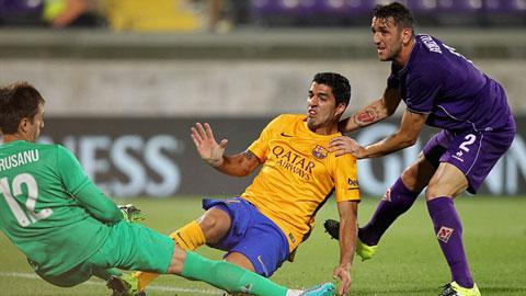 Vấp ngã trước Fiorentina, Barca nhận thất bại thứ 3 liên tiếp