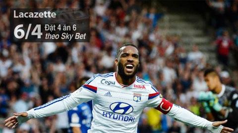 Cuộc đua Vua phá lưới Ligue 1: Ai lật đổ được Lacazette?
