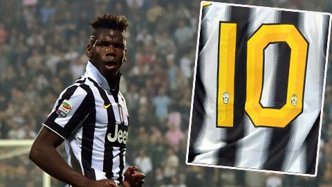 Pogba kế thừa áo số 10 của Tevez ở Juventus