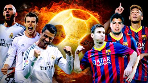 Barca và Real khác hẳn khi vắng những 'mũi đinh ba'