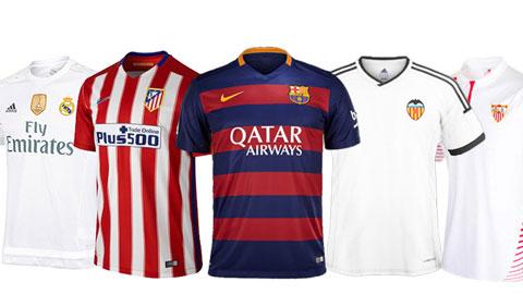 Giới thiệu mẫu áo đấu các đội dự La Liga 2015/16