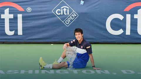 Kei Nishikori có được danh hiệu ATP thứ 10