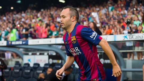 Ra sân ở Siêu cúp châu Âu 2015, Iniesta sẽ có trận 550 cho Barca
