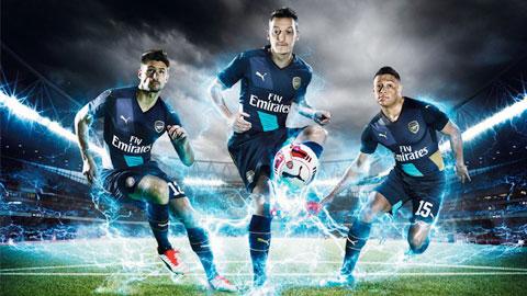 Arsenal ra mắt mẫu áo sân khách cho các giải đấu cúp