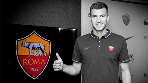 Dzeko hoàn tất thủ tục gia nhập Roma