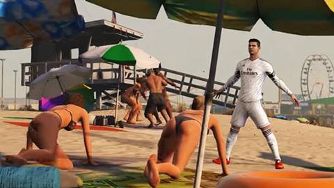 Ronaldo quấy rối phụ nữ và phạm tội trong GTA5