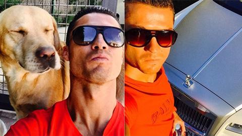 Ronaldo khoe xe, khoe chó